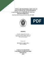 Analisis Pengaruh Kinerja Keuangan