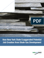 How New York State Exaggerated Potential Job Creation from Shale Gas Development