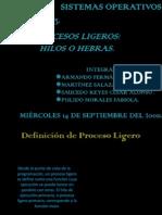 Presentación bien de procesos ligeros hilos o hebras