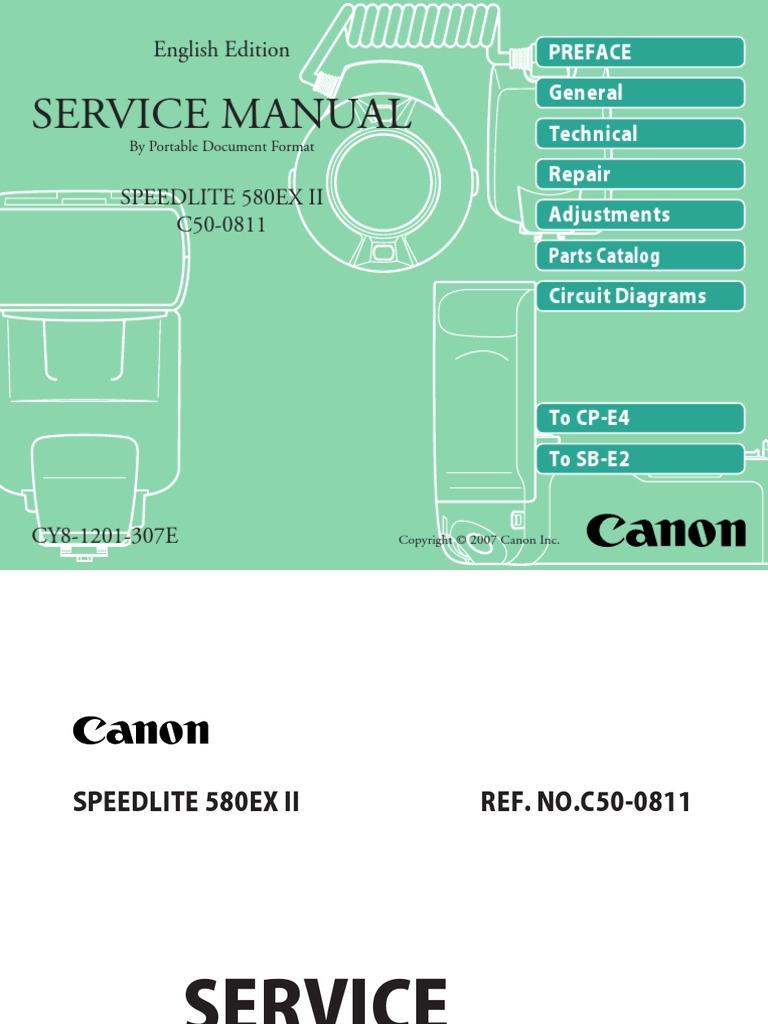 canon 580ex ii repair manual canon eos analog to digital converter rh scribd com canon speedlite 580ex service manual canon speedlite 420ex service manual