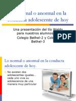 Lo Normal o Anormal en La Conducta Adolescente - Copia