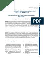 Lean Proizvodni Sistemi i Reagbilnost Lanca Snabdevanja