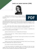 Schumann, Conseils Aux Jeunes Musiciens