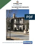 Carroll Ton Inspection Check List