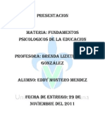 Ensayo Fund Amen To Psicologico de Le Educacion
