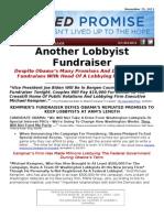 FAILED PROMISE - Another Lobbyist Fundraiser