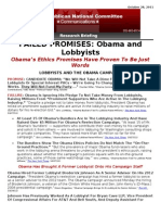 Failed Promise - Obama and Lobbyists