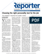 Choosing the Right Personality Test for the Job - Canadian HR Reporter