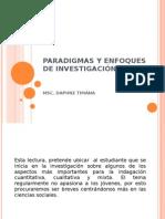 PARADIGMAS Y ENFOQUES DE INVESTIGACIÓN