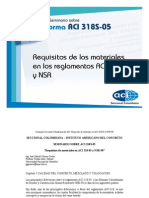 Requisitos de Los Materiales en Los Requisitos Aci 318 y Nsr - 98