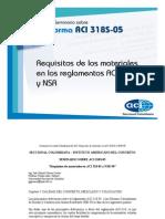 Requisitos de Los Materiales en Los Requisitos Aci 318 y Nsr - 98