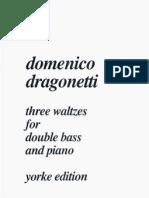 Domenico Dragonetti - Three Waltzes for Double Bass and Piano