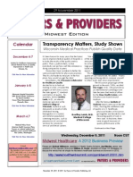 Payers & Providers Midwest Edition – Issue of November 29, 2011