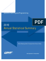 UDOT 2010 Annual Statistical Summary Web