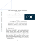 Does Measurement Destroy Coherence - Partha Ghosh