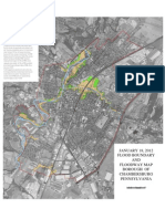 Chambersburg 2012 FEMA Floodplain Map With Aerial Photography