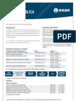 Hoja informativa de los Programas de Alta Especialización de la Maestría en Gestión Pública 2012-I