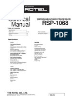 Rotel RSP1068 Service