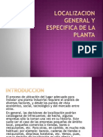 Localizacion General y Especifica de La Planta
