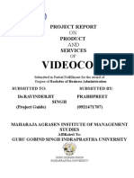 19679590 Minor Project Report on Videocon