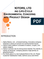 ALPHA MOTORS Ltd Integrating Life Cycle Enviro