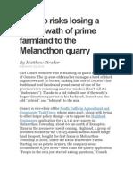 Ontario Risks Losing a Huge Swath of Prime Farmland to the Melancthon Quarry