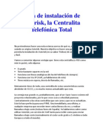 Guía de instalación de Asterisk