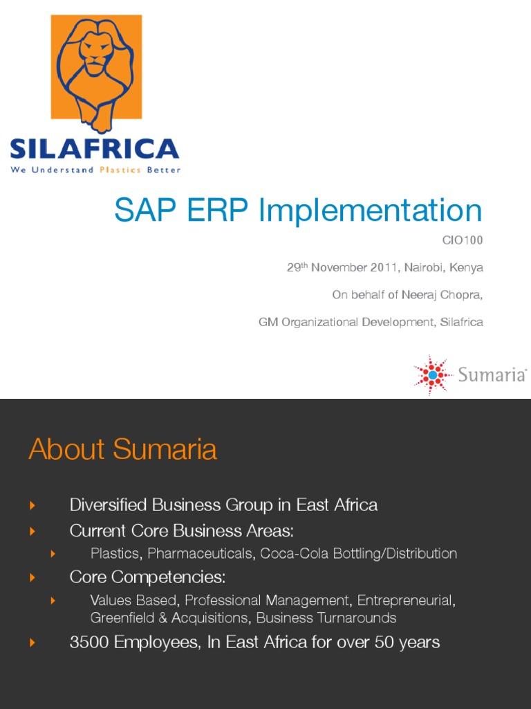 CIO 100 2011-Silafrica SAP ERP Implementation-Sumaria-Neeraj
