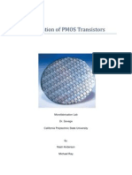Fabrication of PMOS Transistors