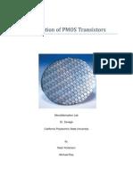 Fabrication of PMOS Transistors
