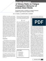 Kusko - Influence of Stress Ratio on Fatigue Crack Propagation Behavior of Stainless Steel Welds