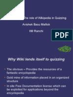Wikuizzing - Avishek Basu Mallick