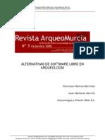 Alternativas de Software libre en Arqueologia Revista Arqueomurcia No. 3