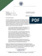 DoE Letter to Penn State 110911