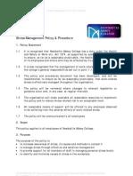 Stress Management Policy Procedure