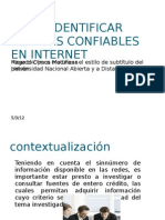 FUENTES CONFIABLES EN INTERNET