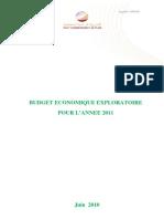 Budget économique exploratoire pour l'année 2011 (version française)