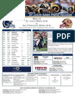 Week 13 - Rams at 49ers