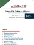 2004 TXDLA UTD Global MBA Online Program Presentation)