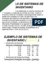 Ejemplo de Sistema de Inventarios