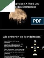 Die Mondphasen + Mare Und Terrare Des Erdmondes