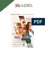 Hora Menos - Pressbook