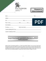 Premarital Questionnaire