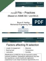 Ansi B4.1 Fit Chart