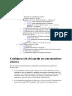 Configuración del agente en computadores clientes