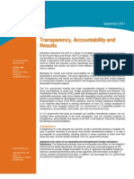 Interaction Policy Transparency, Accountability, Results