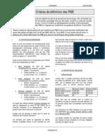 Critères de définition des PME