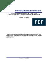 IMPACTOS GERADOS PELA DISPOSIÇÃO DE RESÍDUOS SÓLIDOS