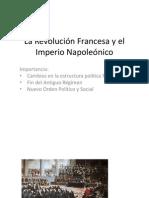 La Revolución Francesa y el Imperio Napoleónico