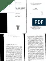 ISER, Wolfgang, El acto de leer. Teoría del efecto estético capIII